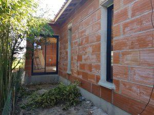 Les Menuisiers Girondins étaient à Bruges pour la construction d'une maison neuve avec pose de menuiseries aluminium Technal-5