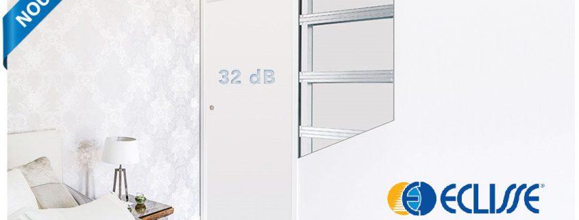 Les Menuisiers Girondins : Unique 32 dB d'Éclisse, la porte coulissante avec affaiblissement sonore à partir de 32 dB