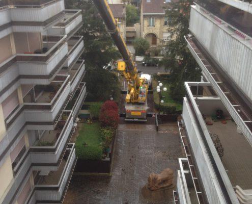 Les Menuisiers Girondins étaient au Bouscat pour un chantier en dépose et pose totale pour une baie coulissante au 5ème étage, à 60m du sol - 5