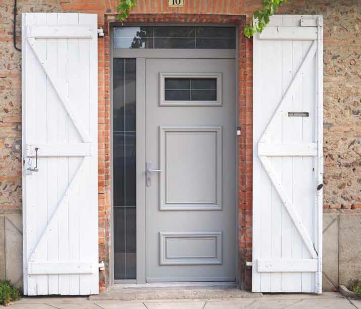 Porte d entree pvc blanc for Porte jardin pvc blanc